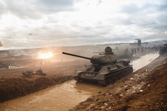 shooting tank ww2 reconstuction