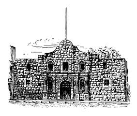 Alamo vintage illustration