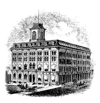 State House vintage illustration