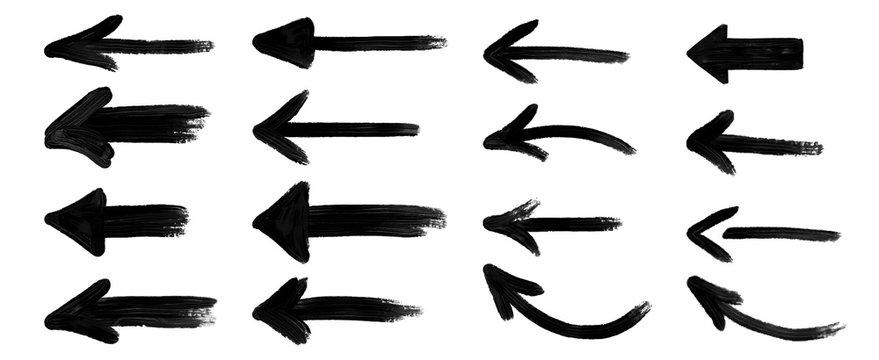grunge arrow vector. grunge arrow brush.grunge arrow paint