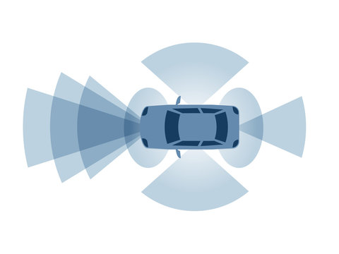 Sensor fusion concept. Clipart image isolated on white background