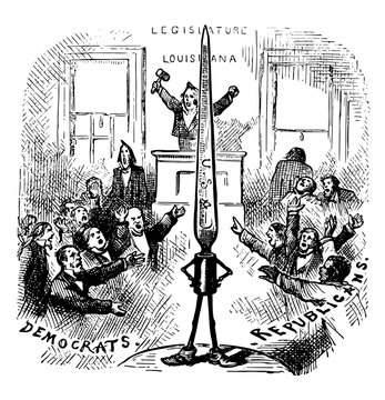 Louisiana's Martial Law in 1875 vintage illustration