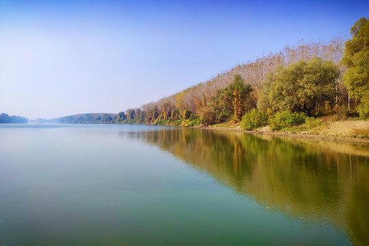 River Tisa and sky ,Serbia,Vojvodina.