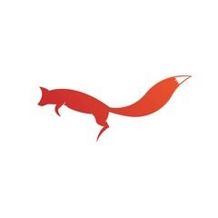 Creative circle fox logo vector. Round fox logo template