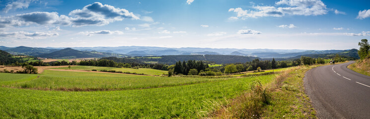 Photo sur Aluminium Bleu ciel paysage panorama campagne