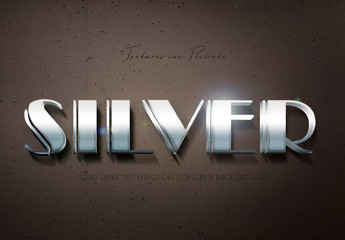 Silver Text Effect Mockup