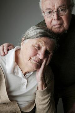 Portrait of senior, couple, close-up