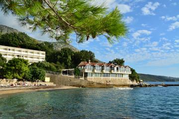 piękne wybrzeże w Chorwacji, morze Adriatyckie, plaża