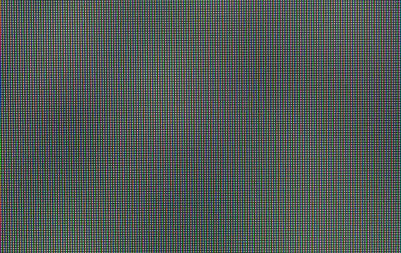 Pixels in the macro scale of the liquid crystal screen