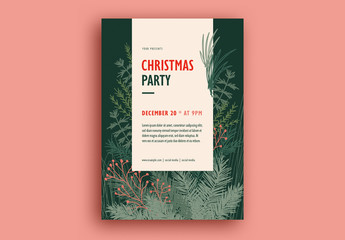 Christmas Party Flyer Layout