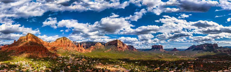 Foto auf Leinwand Arizona Sedona Arizona Panorama overlooking Red Rock State Park