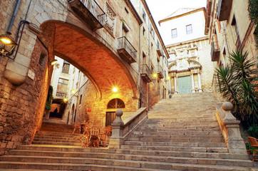 スペイン ジローナの町並み