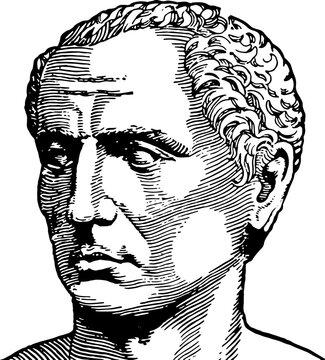Julius Caesar, vintage illustration