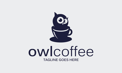 owl coffee logo design idea Fototapete
