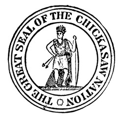 The seal of the Chickasaw Nation, vintage illustration