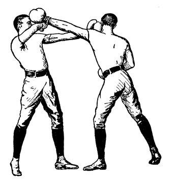 Boxing vintage illustration.