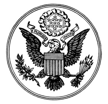 Great Seal of the United States, vintage illustration