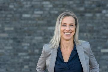 Front portrait of business woman