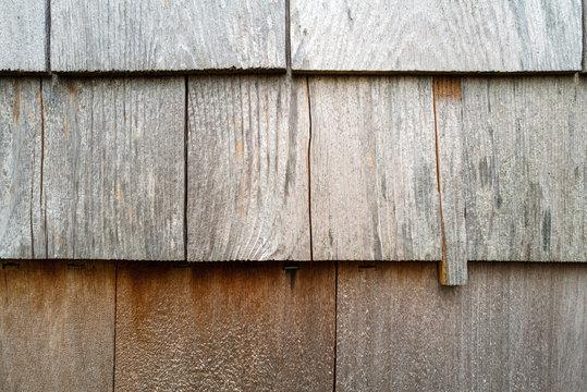 Wood siding close up detail