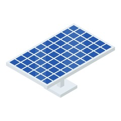 Solar panel icon. Isometric of solar panel vector icon for web design isolated on white background