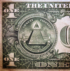 Photo sur Toile Imagination Dollar bill, close up view