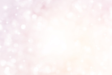 abstract blur soft gradient pink color background with star glittering light for show,promote and...
