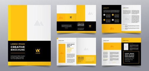 yellow business brochure pages template