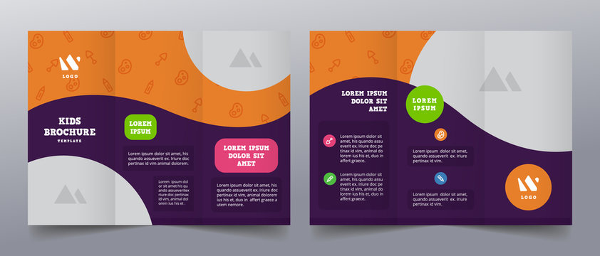 playful trifold brochure templates