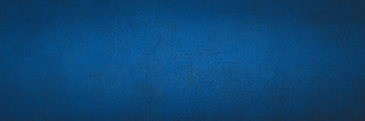 Old navy blue color concrete wall texture as background