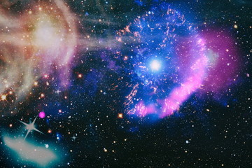 Wall Murals Nasa Futuristic abstract space background. Night sky with stars and nebula. High quality space background. Elements of this image furnished by NASA.