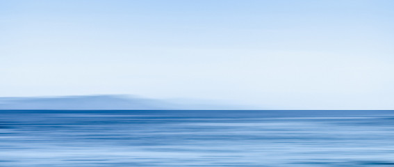 Abstract ocean wall decor background, long exposure view of dreamy mediterranean sea coast Fototapete