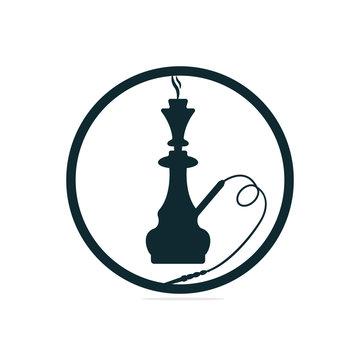 Vector design of hookah and shisha logo. Set of hookah and accessory stock vector illustration.