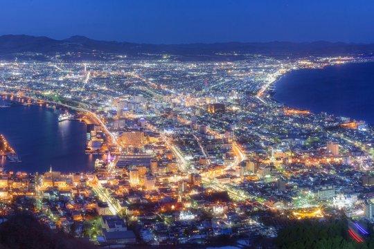 北海道・冬の函館の夜景 1