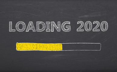 Tafel - loading 2020 - Kreide - Schultafel - Ladebalken