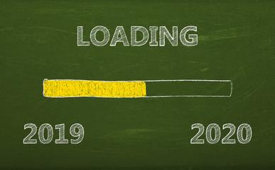 Tafel - loading 2019 - 2020 - Kreide - Schultafel - Ladebalken