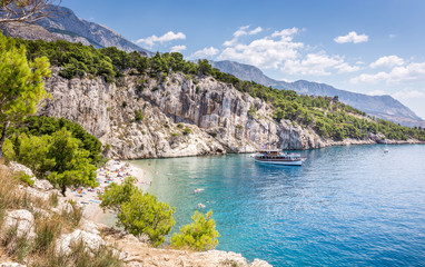 Nugal beach scenery in Croatia