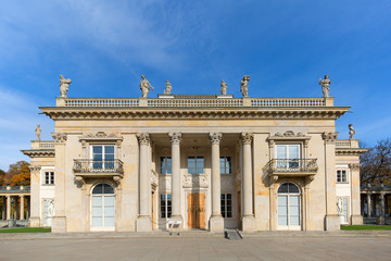Palace on the Isle, Baths Palace, classicist palace in Warsaw Royal Baths Park, Warsaw, Poland