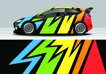 Modern sporty abstract car wrap design