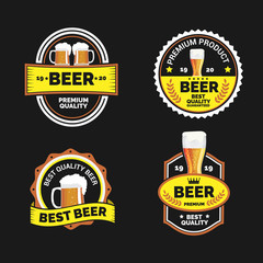 labels for the beer in the black gold color
