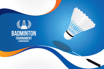 Vector of badminton background. Sports concept