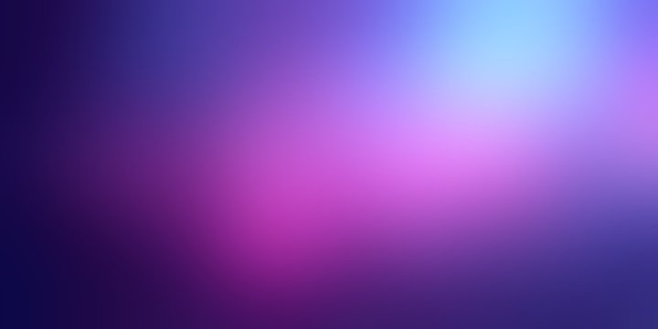 Empty cosmic background. Blurred dark violet sky abstract texture. Defocused pink light illustration. Magical space banner. Romantic style.
