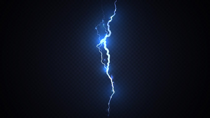 Abstract background in the form of blue lightning strike