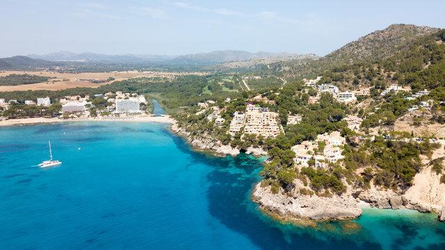 Bay near the town of Canyamel in Mallorca