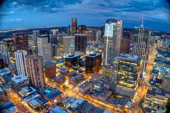 Downtown Denver West over Larimer Square