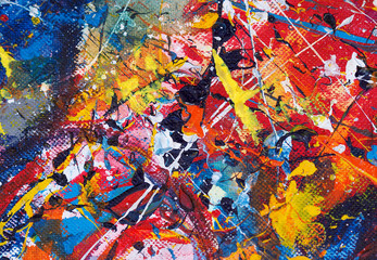 Colorful oil painting abstract background and texture.