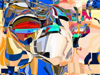 Foto op Plexiglas Paradijsvogel Abstract colored pattern. Digital art design