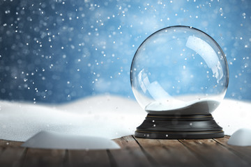 In de dag Bol Empty snow globe Christmas background