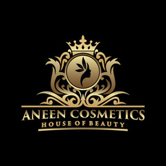 Luxury Logo Template design for hotel and elegant brand identity.