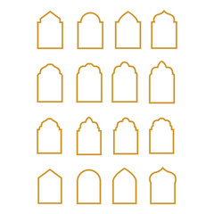 islamic window icon vector design symbol