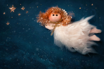 Christmas angel flying